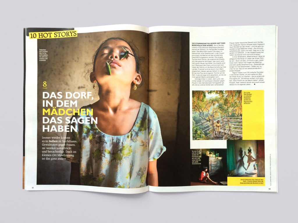 "Report im Magazin ""Grazia"" zum Thema Frauan in Indien"